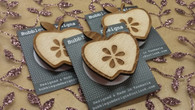 Funky Wooden Brooch - Apple