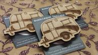 Funky Wooden Brooch - Vintage Van