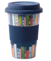 Reusable Cup Ceramic Books - Navy Blue