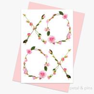 petal and pins Greeting Card - Rose Kisses