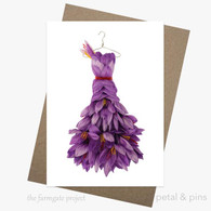 petal and pins Greeting Card - Sassy Saffron