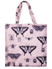 Foldable Shopping Bag - Pink Butterlfies
