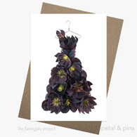 petal and pins Greeting Card - Midnight Hellebore Dress