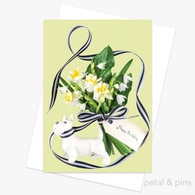 petal and pins Greeting Card - Birthday Bouquet