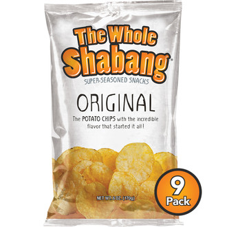 The Whole Shabang Original Potato Chips (9 pack)
