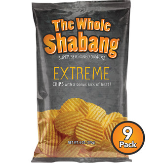 The Whole Shabang Extreme Ripple Potato Chips (9 pack)