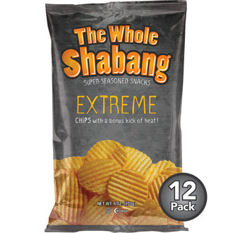 The Whole Shabang Extreme Ripple Potato Chips (12 Pack)