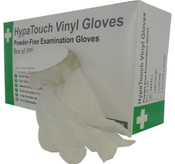 HypaTouch Vinyl Gloves Powder Free Examination Gloves Box of 100