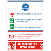 Fire Action Notice - Break Glass