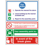 Fire Action Assembly Point