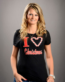 I Heart Christmas Women's Burnout