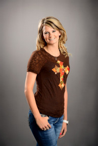 Fall Patchwork Cross Burnout