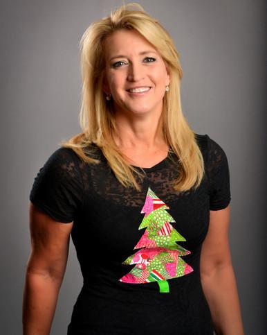 Patchwork Christmas Tree Burnout