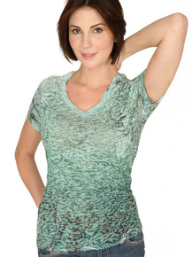 Emerald Vine Short-Sleeved Burnout