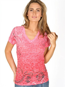 Pink Vine Short-Sleeved Burnout