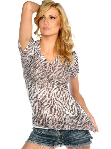 Zebra Short-Sleeved Burnout