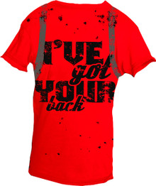 I've Got Your Back Red Short-Sleeved Warrior Poet Tee (Front)