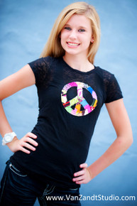 Tween Patchwork Peace Burnout