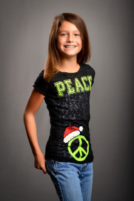 Tween Santa Hat Peace Burnout