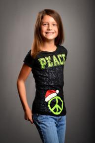 Tween Santa Hat Peace Burnout