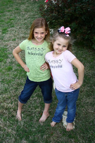 Sassy Tween Burnout - Green or Pink