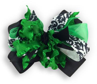 Green Flower Dress Bow