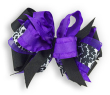 Purple Flower Dress Bow