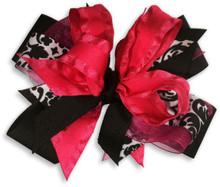 Hot Pink Flower Dress Bow