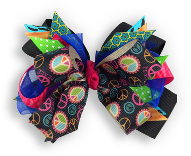 Patchwork Peace Bow
