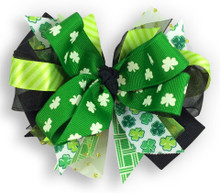 Patchwork Shamrock Bow