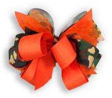 Camo & Orange Bow