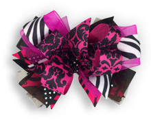 Zebra & Pink Cross Bow
