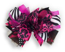 Zebra & Pink Cross Bow