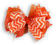Orange Chevron Bow
