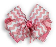 Pink Chevron Bow