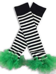 Black & White w/Green Tutu Leggings