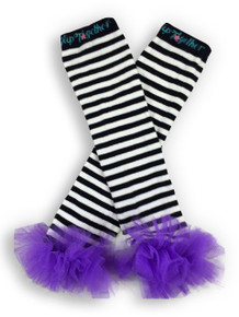 Black & White w/Purple Tutu Leggings