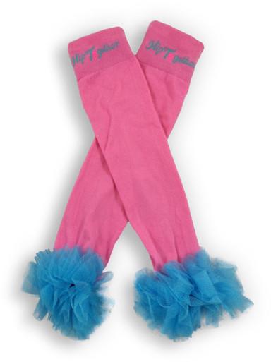 Pink w/Turquoise Tutu Leggings