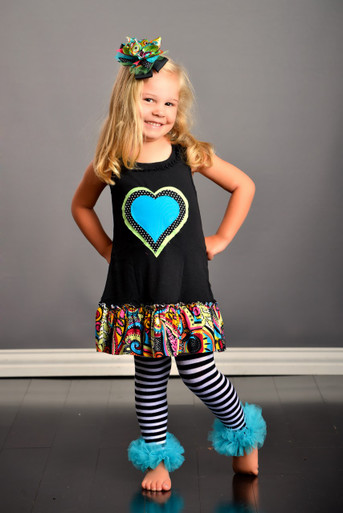 Polka Dot Triple Heart Dress