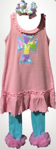 Spring Patchwork Cross Dress