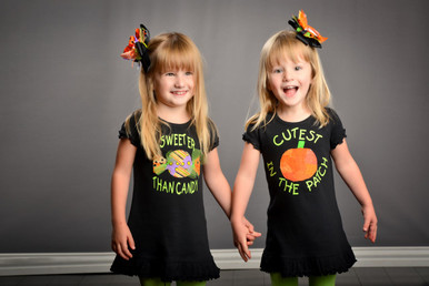 Sweeter Than Candy and Cutest Pumpkin -- perfect for twins!