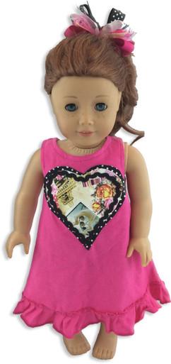 Paris Heart Doll Dress