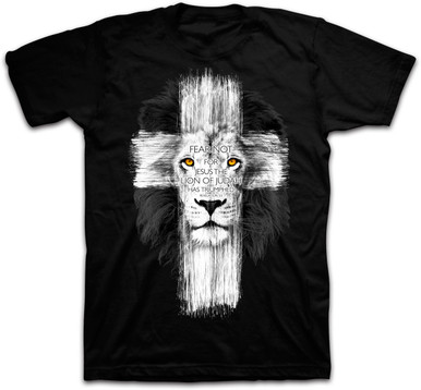 Kerusso Lion Cross Christian Tee