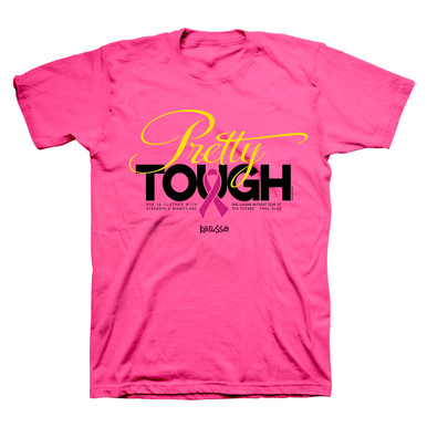 Pretty Tough Breast Cancer Awareness Women's Tee
