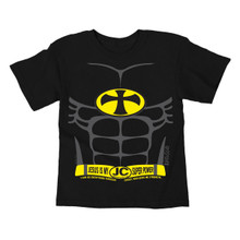 Kids Batman Parody T-Shirt Jesus Is My Super Power Kerusso Tee