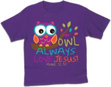 Owl Always Love Jesus Kerusso Kids Tee