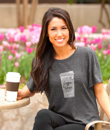 I Run On Coffee & Grace Womens Christian Tee