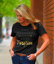 Not Perfect Just Forgiven Women's Christian Tee