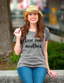Love One Another Women's Christian Tee