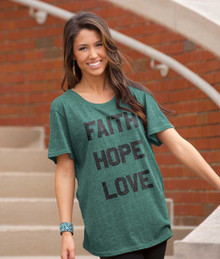 Faith Hope Love Women's Christian Tee